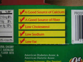 food label benefits list