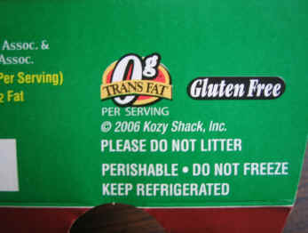 food label gluten free claim
